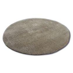 Okrúhly koberec SHAGGY MICRO tmavo béžová