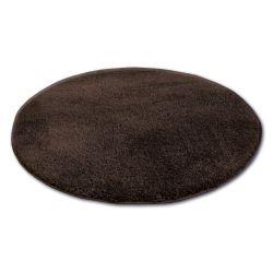 Tepih krug čupavi MICRO smeđa