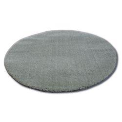 Tepih krug čupavi MICRO zelena