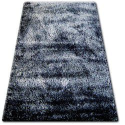 Koberec SHAGGY NARIN P901 černá krémový+fialový