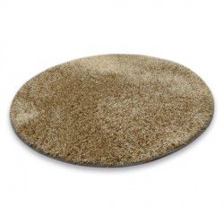 Okrúhly koberec SHAGGY NARIN P901 tmavo béžová