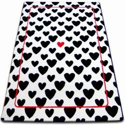 Carpet SKETCH - F755 cream/black - hearts