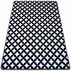 Koberec SKETCH - F757 bílá/ černá - diamant
