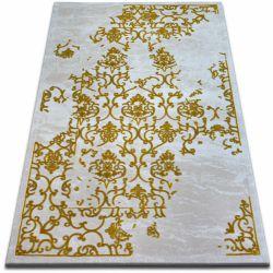 Tapete ACRÍLICA BEYAZIT 1798 C. Branco/Gold