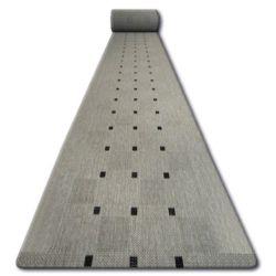 Sizal futó szőnyeg FLOORLUX minta 20079 ezüst / fekete
