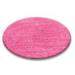 Kulatý koberec SHAGGY 5 cm, růžový