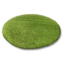 Alfombra SHAGGY 5 cm círculo verde
