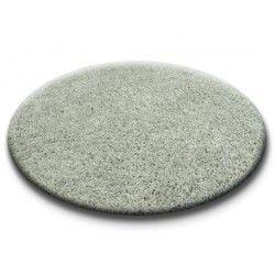 Carpet round SHAGGY 5cm grey