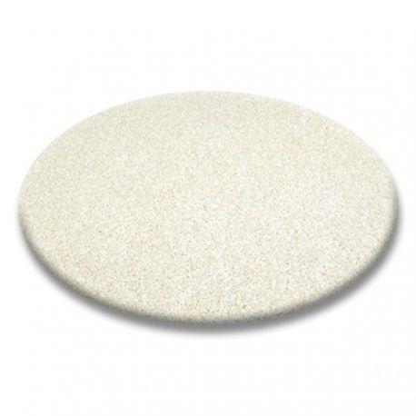 Carpet round SHAGGY 5cm cream