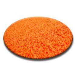 Carpet round SHAGGY 5cm orange