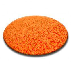 DYWAN koło SHAGGY 5cm pomarańcz