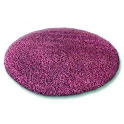 Alfombra SHAGGY 5 cm círculo violeta