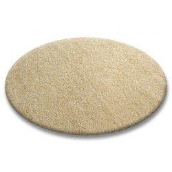 Carpet round SHAGGY 5cm garlic