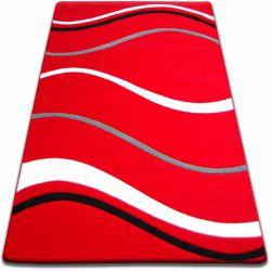 Килим FOCUS - 8732 червоний хвилі лінії