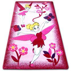 Tapete infantil HAPPY C224 cor de rosa Fada