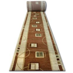 Tapis de couloir HEAT-SET KIWI 3419 marron
