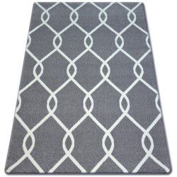 Koberec SKETCH - F934 Mříž, šedá, krém