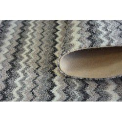 Passadeira carpete ZIGZAG cinzento 0093