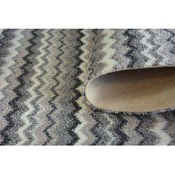 Wykładzina dywanowa ZIGZAG szary 0093