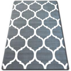 Tæppe BCF FLASH 33445/167 Marokkansk kløver trellis grå