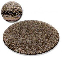 Carpet circle SHAGGY GALAXY 9000 light brown