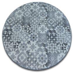 TAPIS cercle MAIOLICA gris style de Lisbonne LISBOA