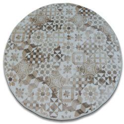 Kulatý koberec MAIOLICA béžový, styl LISABONSKÝ