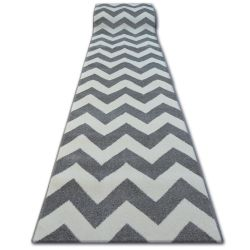 Alfombra de pasillo SKETCH FA66 Zigzag gris/crema