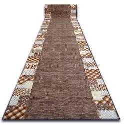 Csúszásgátló futó szőnyeg CARO barna